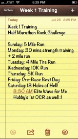 {Half Marathon Ruck Training: Week 1}